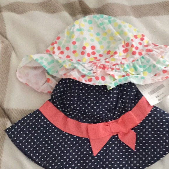 ea2d34bf77f1a Gymboree sun hat bundle new with chin straps